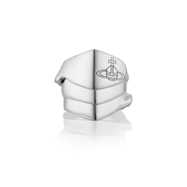 Men Vivienne Westwood KNUCKLEDUSTER RING SILVER Outlet Online