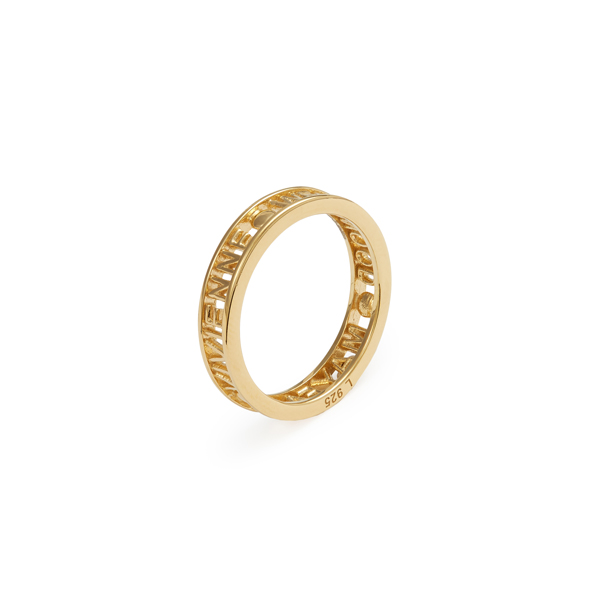 Men Vivienne Westwood STERLING SILVER WESTMINSTER RING GOLD Outlet Online