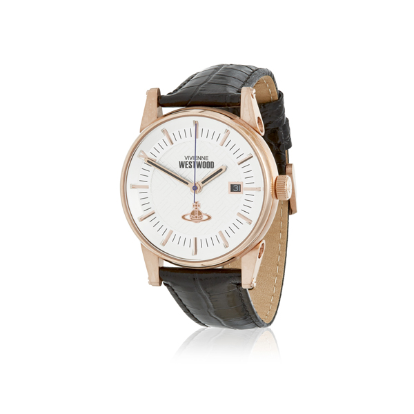 Men Vivienne Westwood BLACK FINSBURY WATCH Outlet Online