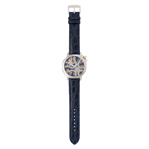 Men Vivienne Westwood BLUE SQUIGGLE SWISS WATCH Outlet Online
