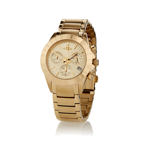Men Vivienne Westwood GOLD WESTMINSTER WATCH Outlet Online