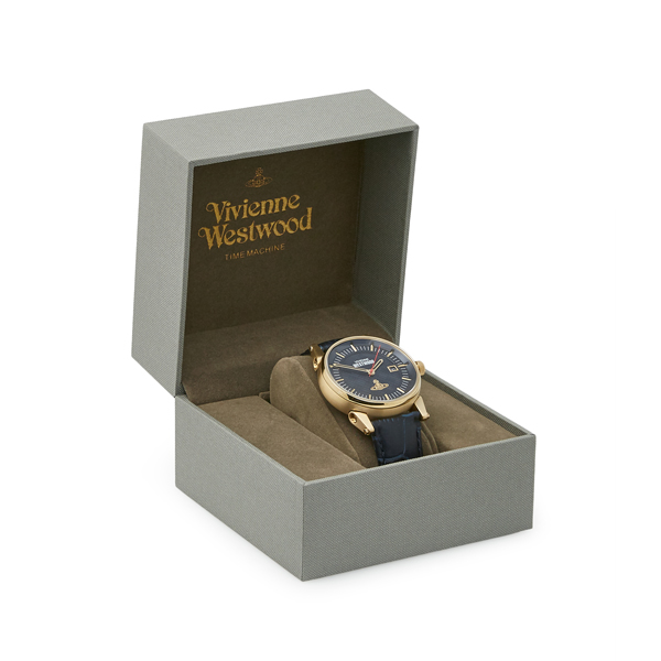 Men Vivienne Westwood BLUE FINSBURY WATCH Outlet Online