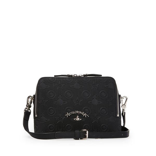Women Vivienne Westwood SMALL CHILHAM CROSS BODY BAG 190010 BLACK Outlet Online