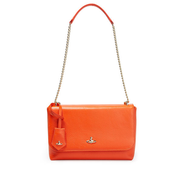 Women Vivienne Westwood LARGE BALMORAL BAG WITH FLAP 131116 ORANGE Outlet Online