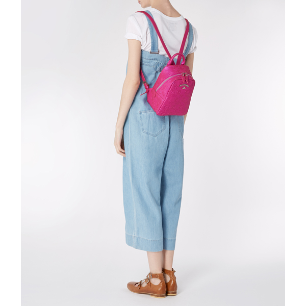 Women Vivienne Westwood SMALL CHILHAM RUCKSACK 190008 PINK Outlet Online