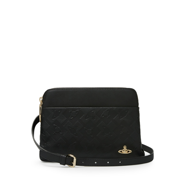 Women Vivienne Westwood HARROW CROSSBODY BAG 131123 BLACK Outlet Online