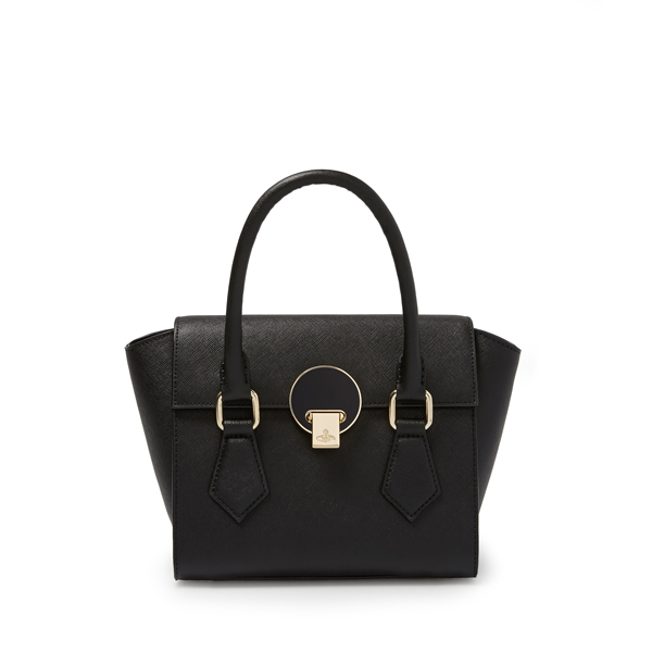 Women Vivienne Westwood SMALL OPIO SAFFIANO BAG 131127 BLACK Outlet Online