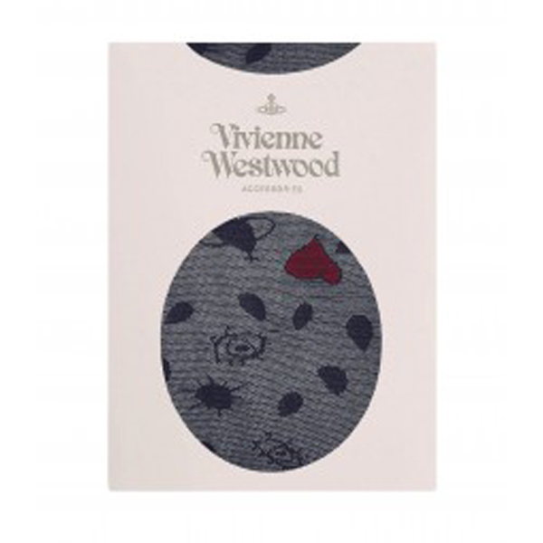 Women Vivienne Westwood HEART STOCKINGS NAVY Outlet Online