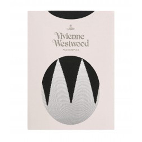 Women Vivienne Westwood BLACK ZIG ZAG TIGHTS Outlet Online