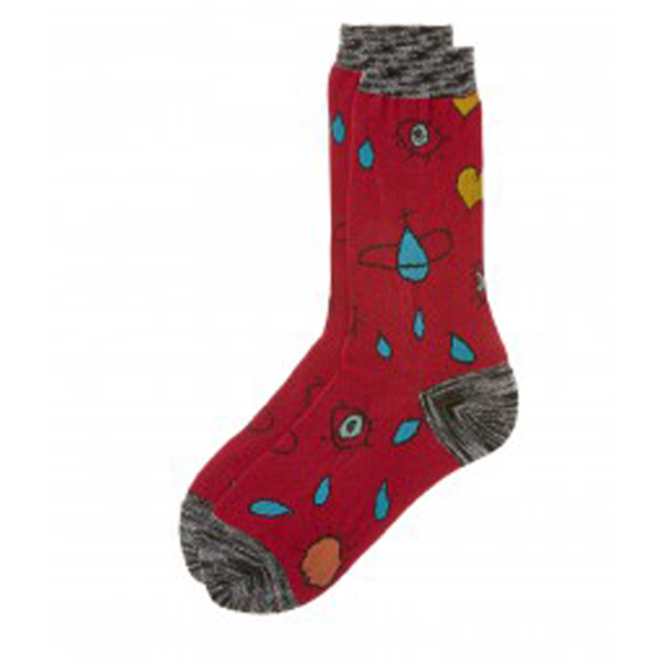 Women Vivienne Westwood RED HEART AND EYE SOCKS Outlet Online