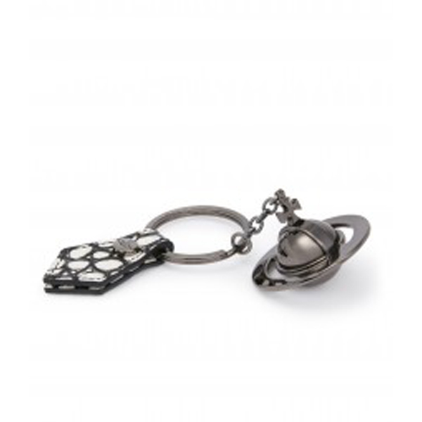 Women Vivienne Westwood GUNMETAL ORB KEY RING 321492 WHITE Outlet Online