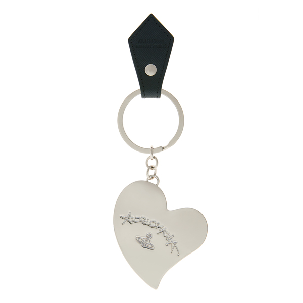 Women Vivienne Westwood HEART KEY RING 390034 BLACK Outlet Online