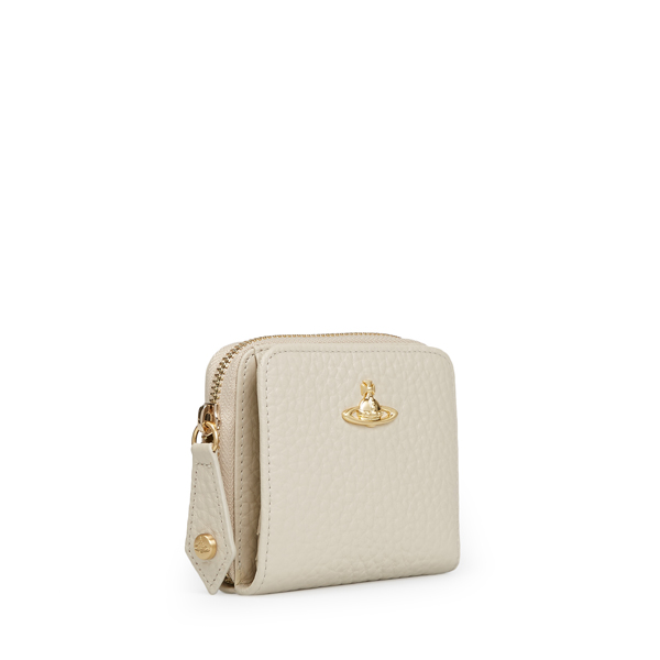 Women Vivienne Westwood MEDIUM BELGRAVIA ZIP PURSE 321436 BEIGE Outlet Online