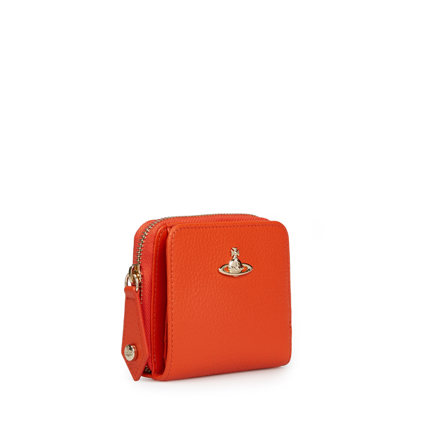 Women Vivienne Westwood MEDIUM BALMORAL ZIP PURSE 321386 ORANGE Outlet Online