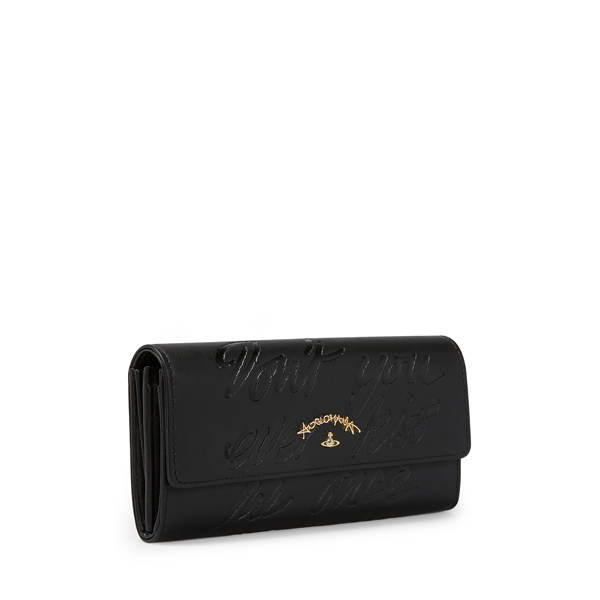 Women Vivienne Westwood SALCOMBE LONG WALLET 390021 BLACK Outlet Online