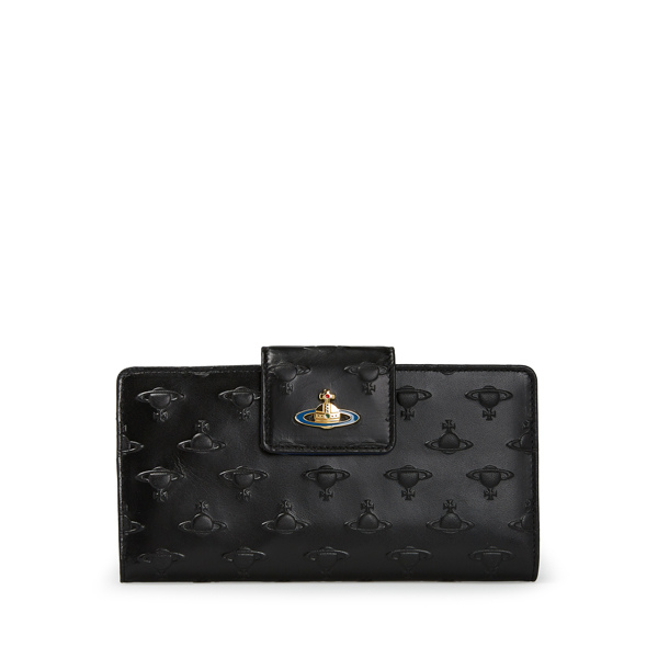 Women Vivienne Westwood ORBS PURSE 7316 BLACK Outlet Online