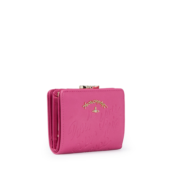 Women Vivienne Westwood SALCOMBE WALLET WITH COIN POCKET 390019 PINK Outlet Online