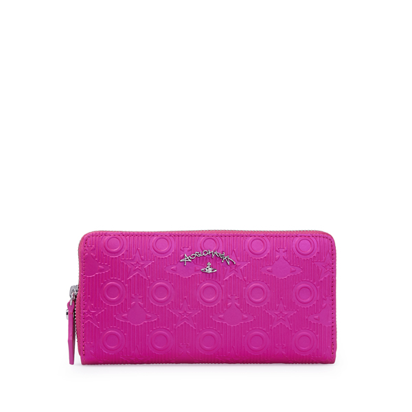 Women Vivienne Westwood CHILHAM ZIP ROUND PURSE 390012 PINK Outlet Online
