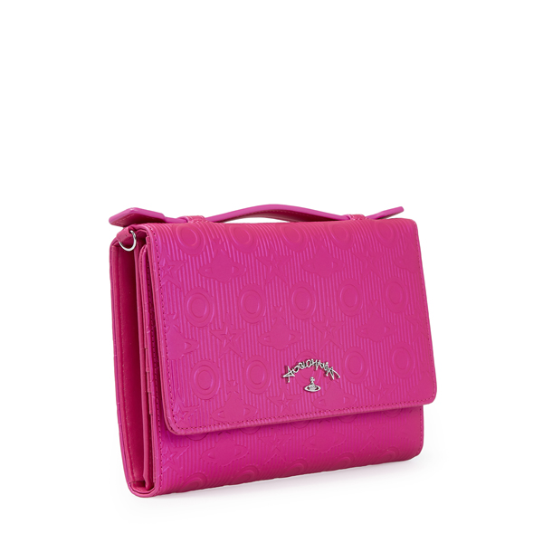 Women Vivienne Westwood CHILHAM TRAVEL WALLET 390013 PINK Outlet Online