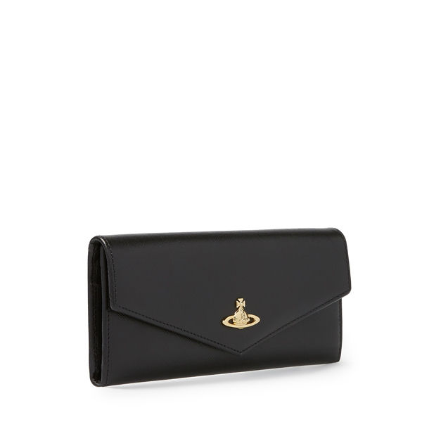 Women Vivienne Westwood OPIO SAFFIANO CREDIT CARD WALLET 321410 BLACK Outlet Online