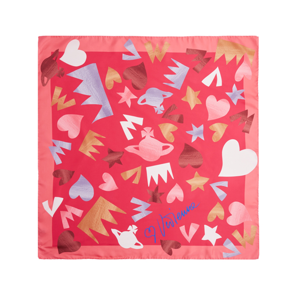 Women Vivienne Westwood YSL SQUARE SCARF PINK Outlet Online