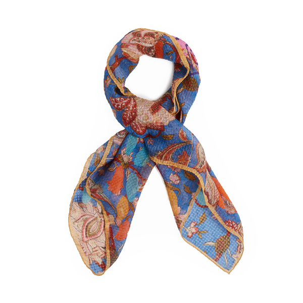 Women Vivienne Westwood NAVY NEW BOUQUET SCARF Outlet Online