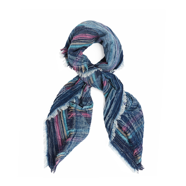 Women Vivienne Westwood I.U.! INTELLECTUAL UNITE NAVY COTTON SCARF Outlet Online