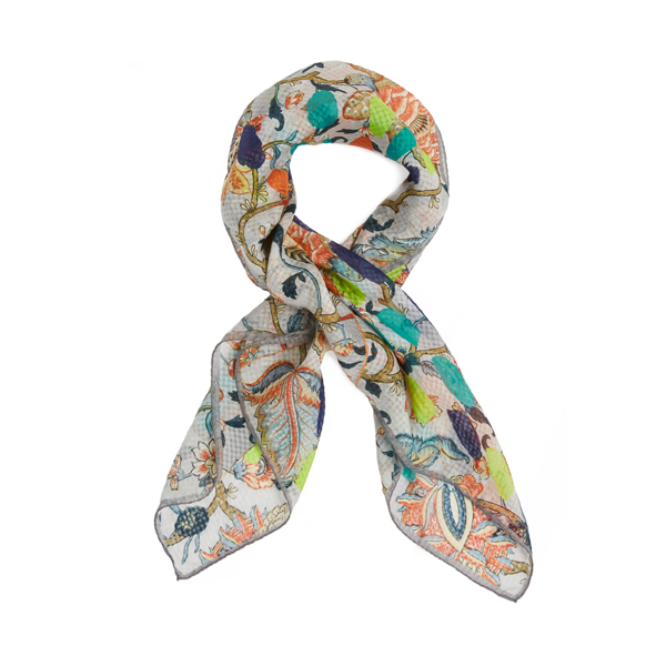Women Vivienne Westwood ECRU NEW BOUQUET SCARF Outlet Online