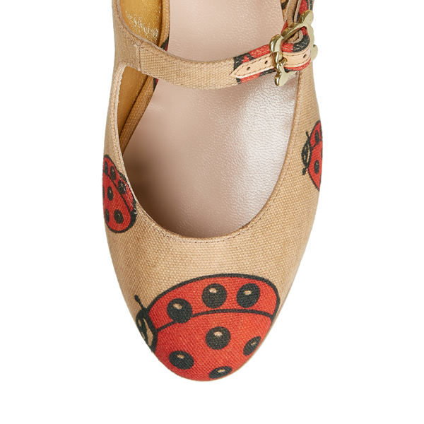 Women Vivienne Westwood WALLACE 3 STRAP SHOES RED/BEIGE Outlet Online