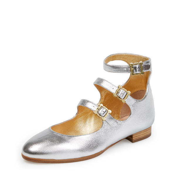 Women Vivienne Westwood WALLACE 3 STRAP SHOES SILVER Outlet Online