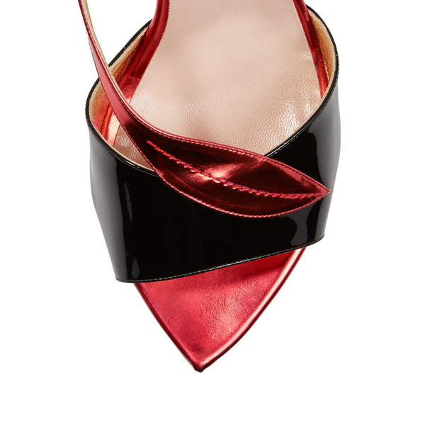 Women Vivienne Westwood SERPENT SANDALS CHERRY/BLACK Outlet Online