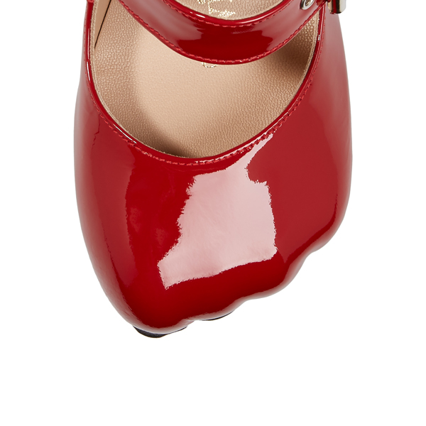 Women Vivienne Westwood ANIMAL TOE 3-STRAPS PATENT RED Outlet Online