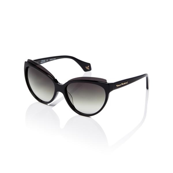 Women Vivienne Westwood BLACK CAT-EYE SUNGLASSES VW876S01 Outlet Online
