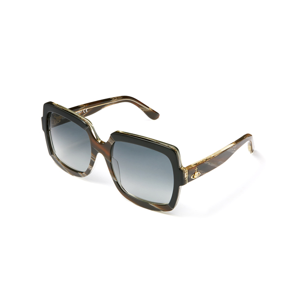 Women Vivienne Westwood BLACK HORN FRAME SUNGLASSES VW50104 Outlet Online