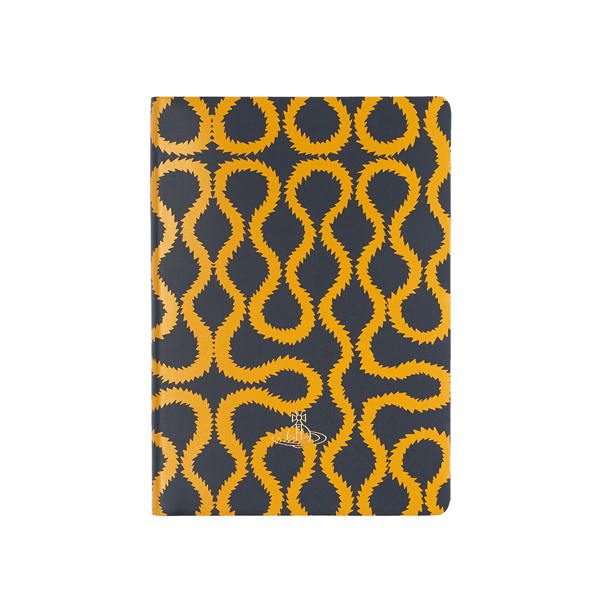 Women Vivienne Westwood A4 NAVY SQUIGGLE NOTEBOOK Outlet Online