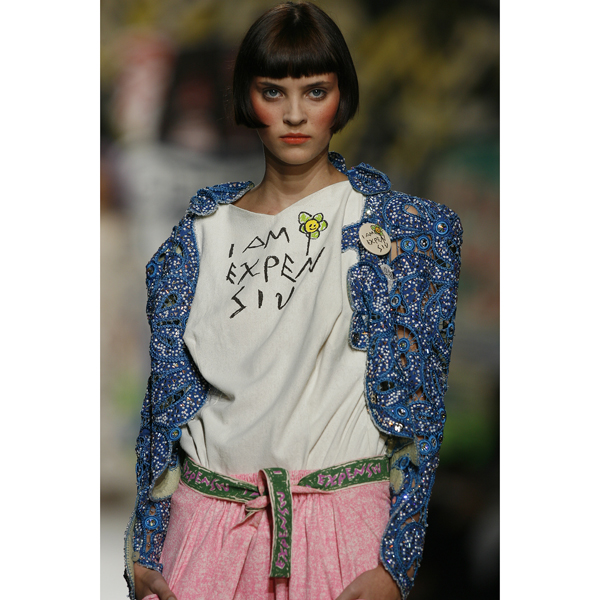 Women Vivienne Westwood CHILDS SQUARE I AM EXPENSIV T-SHIRT Outlet Online