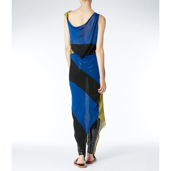 Women Vivienne Westwood JOHANNA DRESS BLUE/LIME Outlet Online