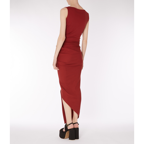 Women Vivienne Westwood OXBLOOD VIAN DRESS Outlet Online