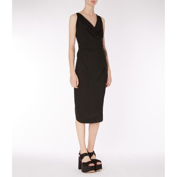 Women Vivienne Westwood BLACK VIRGINIA DRESS Outlet Online