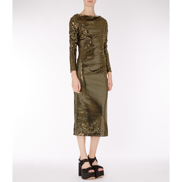 Women Vivienne Westwood LAMINATED THIGH DRESS Outlet Online
