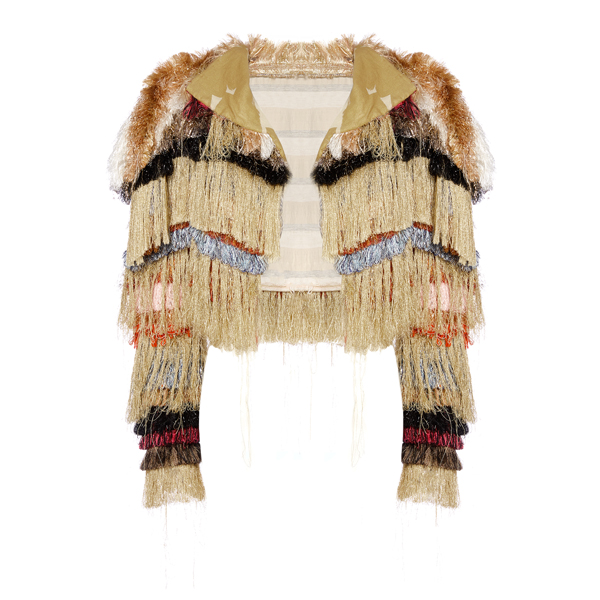 Women Vivienne Westwood HIPPIE STRIPES BOLERO FRINGES Outlet Online