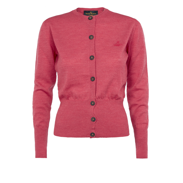 Women Vivienne Westwood PINK CLASSIC CARDIGAN Outlet Online