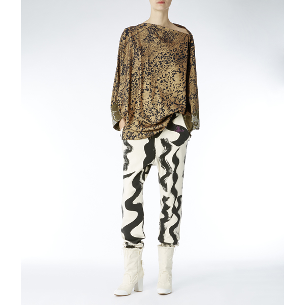 Women Vivienne Westwood INFINITY BLOUSE GOLD Outlet Online