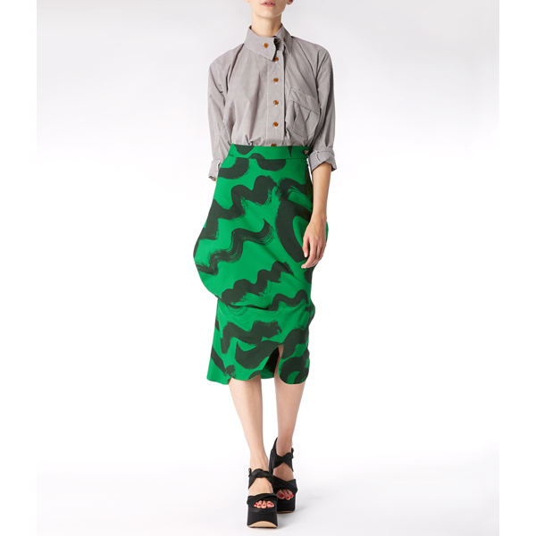 Women Vivienne Westwood ANIMAL SKIRT SQUIGGLE PRINT Outlet Online