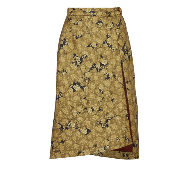 Women Vivienne Westwood NEW MOON MIDI SKIRT GOLD CROSS Outlet Online