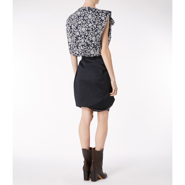 Women Vivienne Westwood NAVY ACCIDENT MINI SKIRT Outlet Online