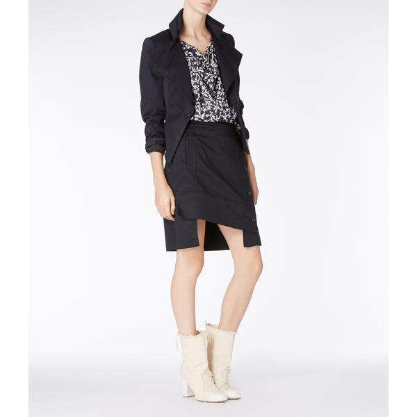 Women Vivienne Westwood NAVY DODO SKIRT Outlet Online