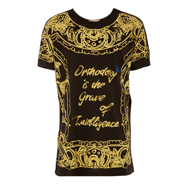 Women Vivienne Westwood GOLD FRAME T-SHIRT BLACK Outlet Online