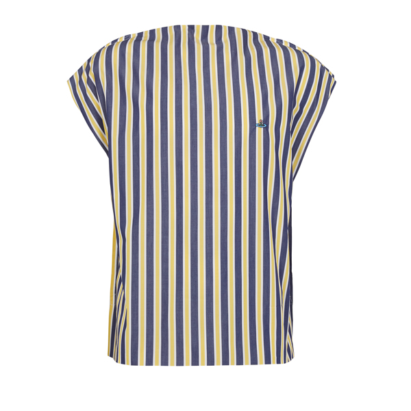 Women Vivienne Westwood SQUARE T-SHIRT JERMYN STRIPES/WHITE JERSEY Outlet Online
