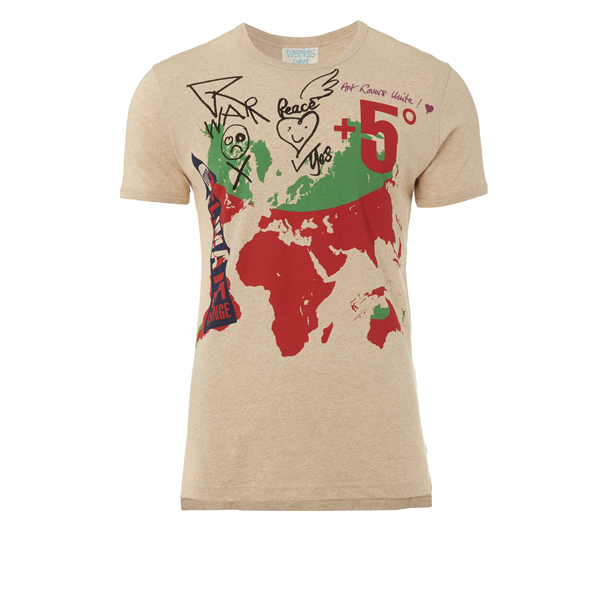 Women Vivienne Westwood WORLD MAP T-SHIRT Outlet Online